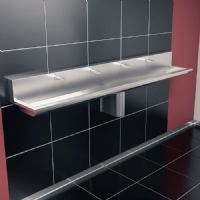 H&L Titan 2400mm High-Back Wash Trough